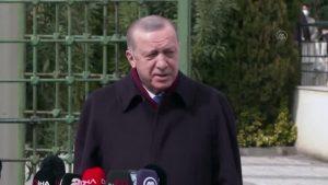 Erdoğan: Aşı tedarikinde herhangi bir sıkıntı yaşayacağımızı kabul etmiyorum