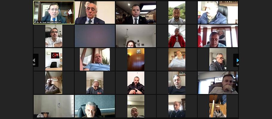 TTSO Nisan ayı meclis toplantısı video konferansla yapıldı