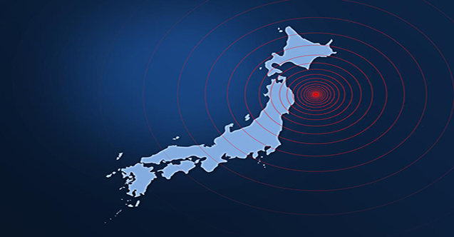 Japonya'nın kuzeydoğusundaki Miyagi eyaleti açıklarında, 6.6 büyüklüğünde deprem meydana geldi.