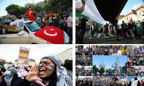 Milyonlar Filistin için yürüdü!