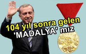 102 yıl sonra gelen 'İstiklal Madalya' sı