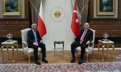 Cumhurbaşkanı Erdoğan, Polonya Cumhurbaşkanı Duda ile baş başa görüştü