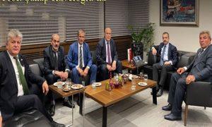 Bayburtlular Kavcıoğlu'nu ziyaret etti