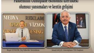 Gümüşhane TSO Başkanı Akçay canlı yayında açıkladı